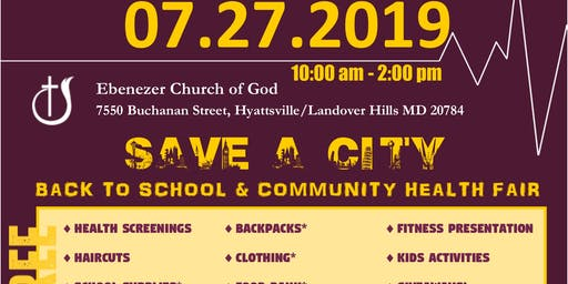 Annual Community Event- FREE BACK to SCHOOL SUPPLIES  & HEALTH FAIR