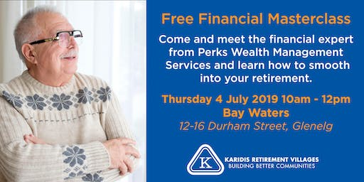 Free Financial Masterclass - for retirement planning