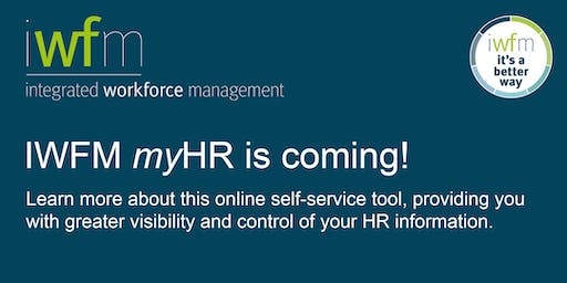 myHR changes to business practice–Session 1 @ 9:00am & Session 2 @ 4:00pm