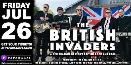 THE BRITISH INVADERS! LIVE at Paparazzi OBX! tickets
