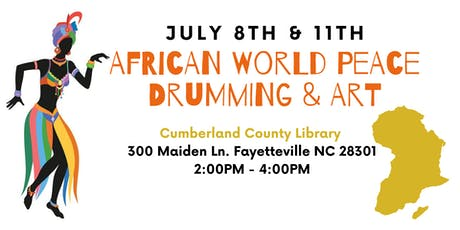 African World Peace Drumming & Art: Library tickets