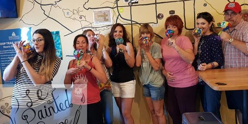 Wine Glass Painting Class held at Catalina Brewing Co
