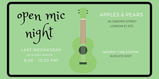 Open Mic Night at Apples&Pears Bar