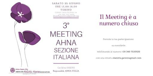 3° MEETING AHNA Sezione ITALIANA