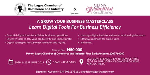 Masterclass: Digital Tools For Business Efficiency