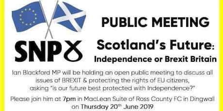 Scotland's Future tickets