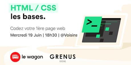 Workshop : Codez votre 1ère page web avec Le Wagon chez Voisins - Grenus tickets