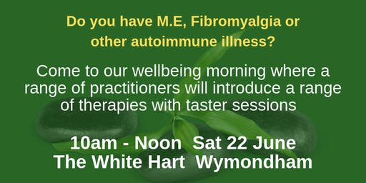 Complementary Therapy tasters for M.E/fibromyalgia