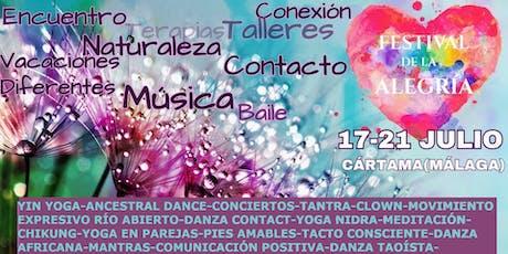 FESTIVAL DE LA ALEGRÍA. Yoga, Danza, Naturaleza y mucho más entradas
