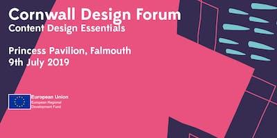 Cornwall Design Forum: Content Design Essentials