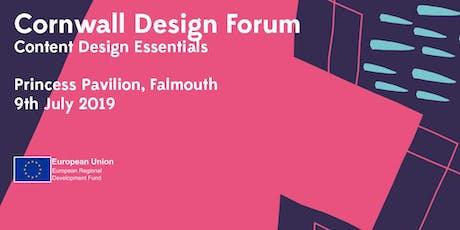 Cornwall Design Forum: Content Design Essentials tickets