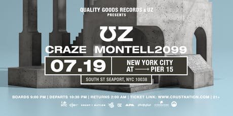 Quality Goods Records Boat Party NYC: UZ, CRAZE & MONTELL2099  Yacht Cruise tickets