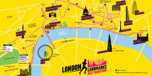 London Landmarks Half Marathon 2020 - Maggie's charity place