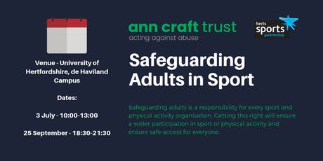 Safeguarding Adults in Sport tickets