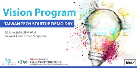 Vision Program - Taiwan tech startup demo day tickets
