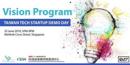 Vision Program - Taiwan tech startup demo day