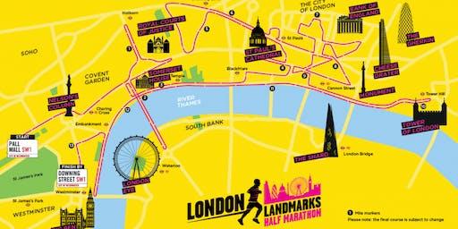 London Landmarks Half Marathon 2019 - Own place registration form