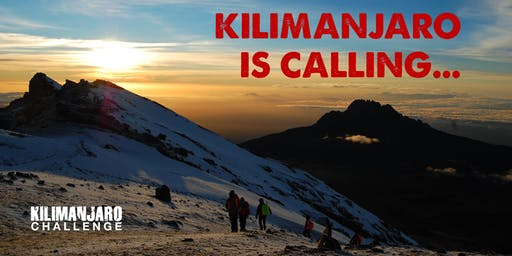 Kilimanjaro Challenge Open Evening - Tuesday 9th July 2019