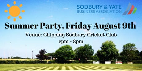 Sodbury & Yate Business Association Summer Networking Party tickets