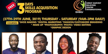 Greatharvest skill acquisition programme tickets