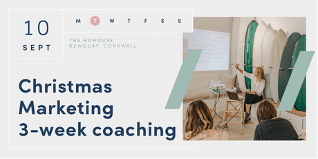 Christmas Marketing 3-week Coaching Sessions tickets