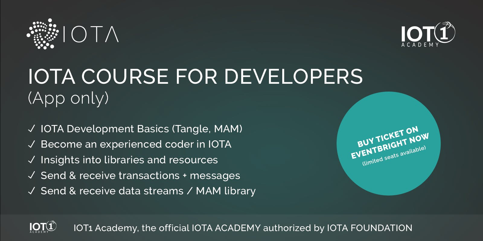 IOTA Course for Developers // Learning App Only (low price but no support)