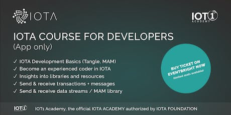 IOTA Course for Developers // Learning App Only (low price but no support) tickets