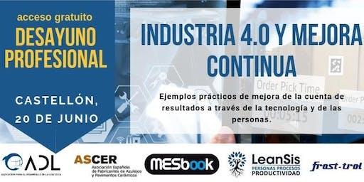Industria 4.0 y Mejora Continua. Ejemplos prácticos de mejora