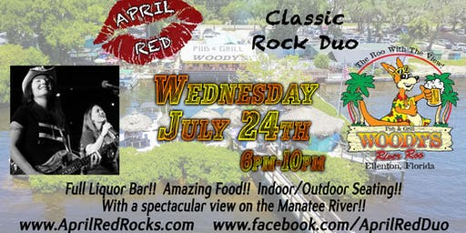 April Red is Back to ROCK Woody's River Roo in Ellenton!