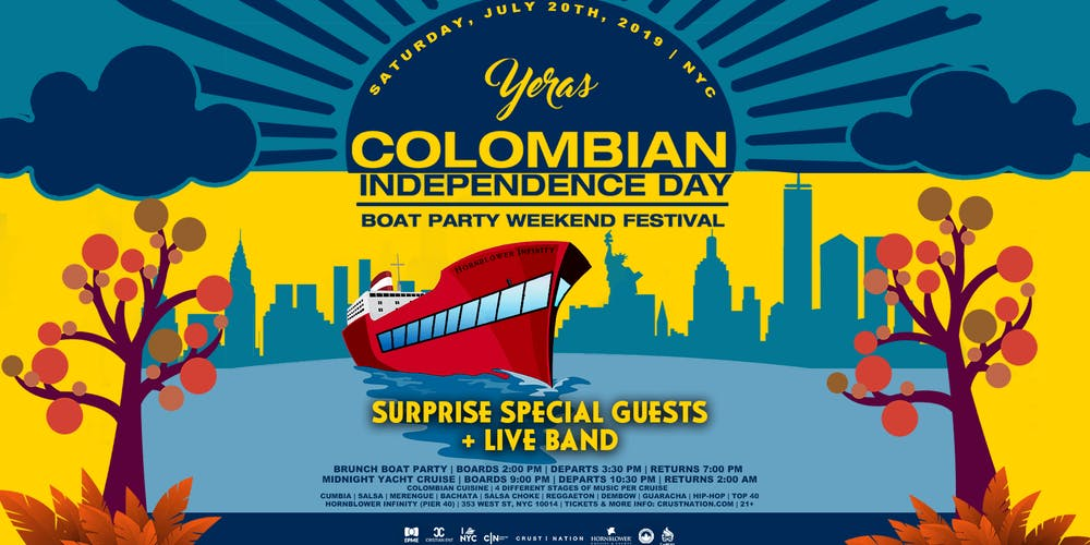 f84aef6f66 Yeras Colombian Independence NYC Boat Party Yacht Cruise HornblowerInfinity  Tickets, Multiple Dates | Eventbrite