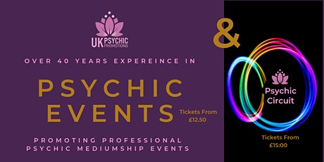 PSYCHIC CIRCUIT -  RENDEZVOUS HOTEL, SKIPTON. -  UK Psychic Promotions tickets