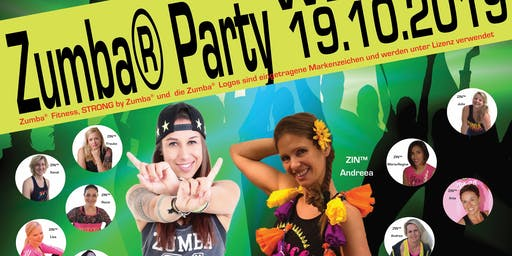 Zumba®Party, Strong® Masterclass, Aftershow Party mit Buffet