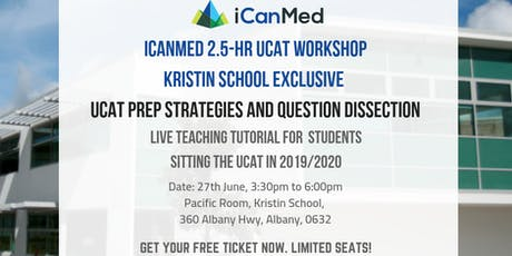 iCanMed UCAT Workshop (KRISTIN EXCLUSIVE): UCAT prep strategies and question dissection tickets