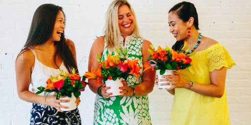 Tropical Flower Arranging with Swoozie's Norcross