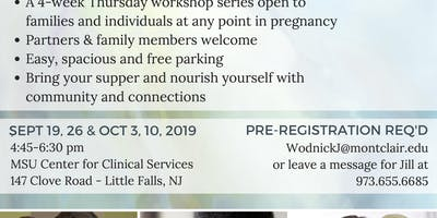 Autumn 2019 Prenatal Lamaze Childbirth Workshops (4 week series open to all)