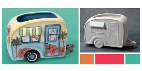 Ceramic Planter - Vintage Camper tickets