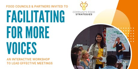 Facilitating for More Voices workshop - August, 2019 tickets