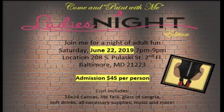 """Paint With Me"" Ladies Night edition  tickets"