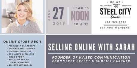 Website Workshop: Selling Online with Sarah tickets