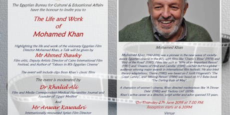The Life and Work of Mohamed Khan tickets