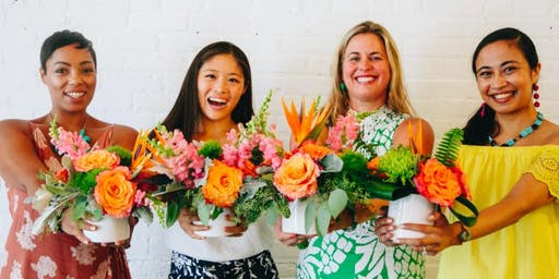 Tropical Flower Arranging with Swoozie's Dallas