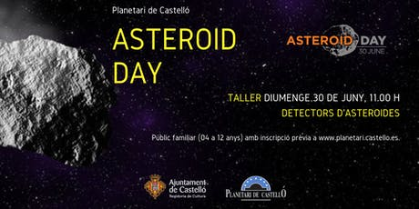 """Taller Infantil Planetari """"Detectors d'asteroides-Detectores de asteroides"""" entradas"""