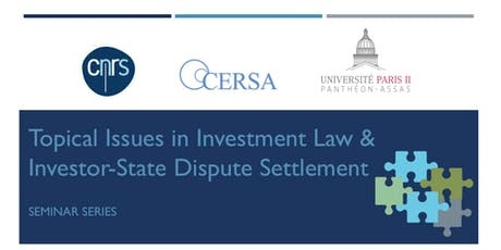 Topical Issues in ISDS: Investment Facilitation tickets