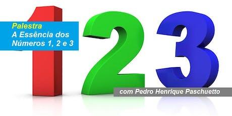 Pedro Paschueto - Palestra A Essência dos Números 1, 2 e 3 ingressos