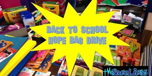 SLF Back To School Hope Bags