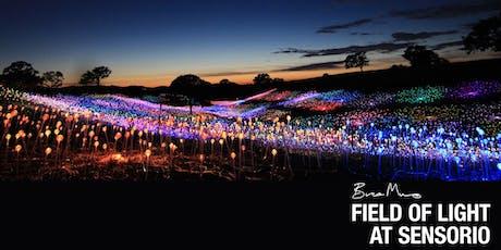 Saturday   June 22nd - BRUCE MUNRO: FIELD OF LIGHT AT SENSORIO tickets