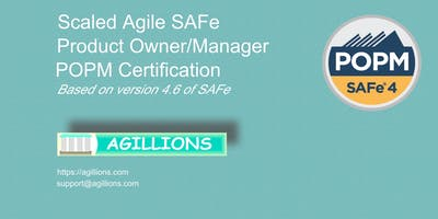 SAFe Product Owner/Product Manager (POPM) 2 day Certification Class July 27 - Bridgewater, NJ