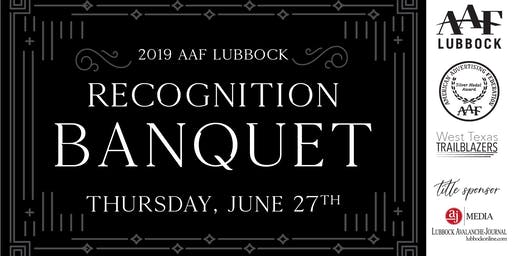 AAF-Lubbock 2019 Recognition Banquet
