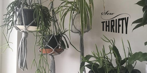 Sew Thrifty: Simple Macrame Plant Hanger Workshop