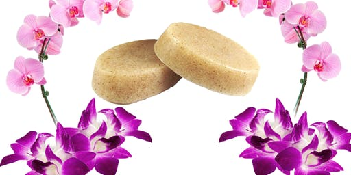 Making Orchids Soap Bar - BF1 Free Soap Making Class With Orchid